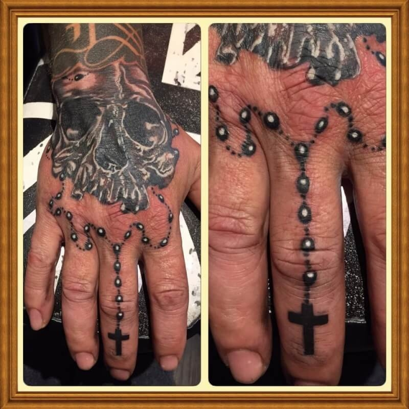 Religious Tattoo of Jesus on the Cross.