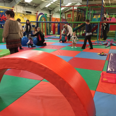 Children playing on Soft Play Mats at Giggles Play Mill