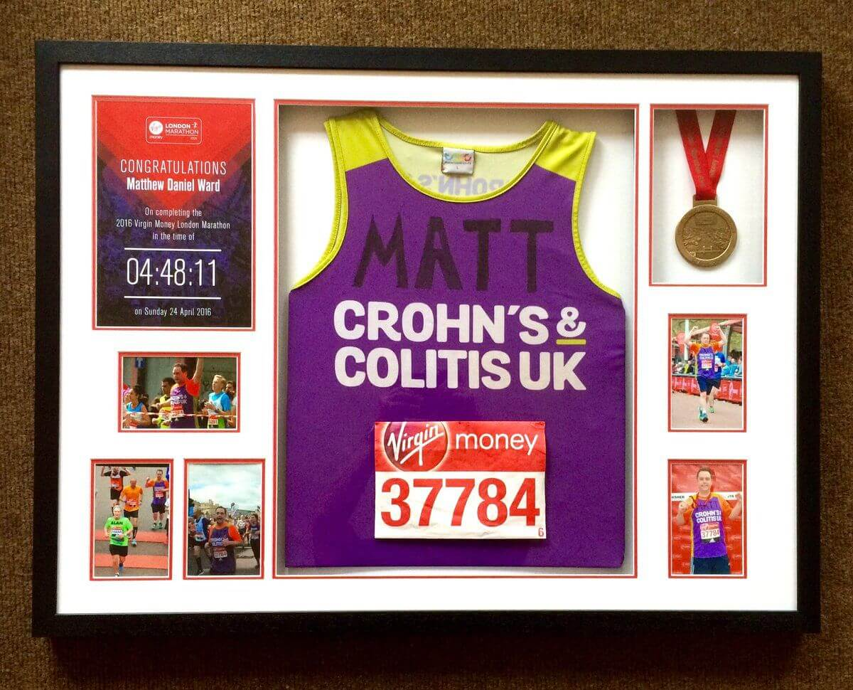 Matthew Daniel Ward Crohn's and Coltins UK running jersey.