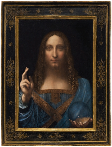 Painting by Leonardo da Vinci depicting Christ, entitled Salvator Mundi