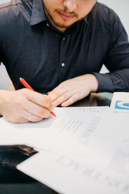 Man doing Civil Litigation Paperwork