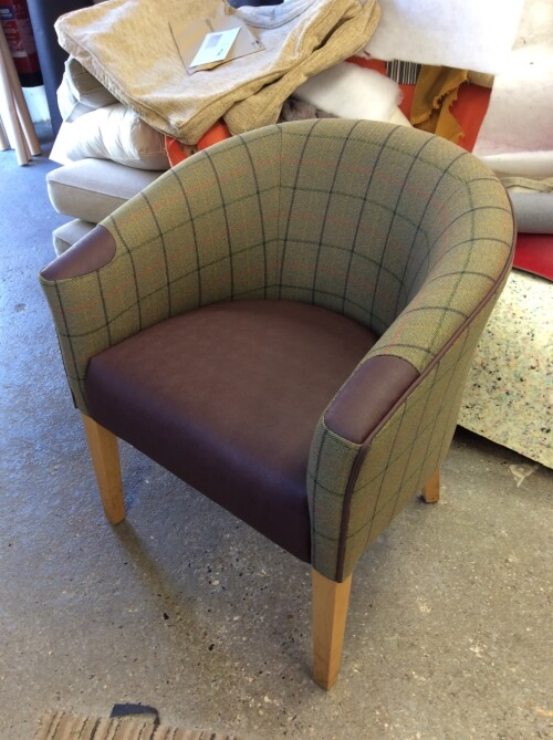 re-upholstered luxury arm chair