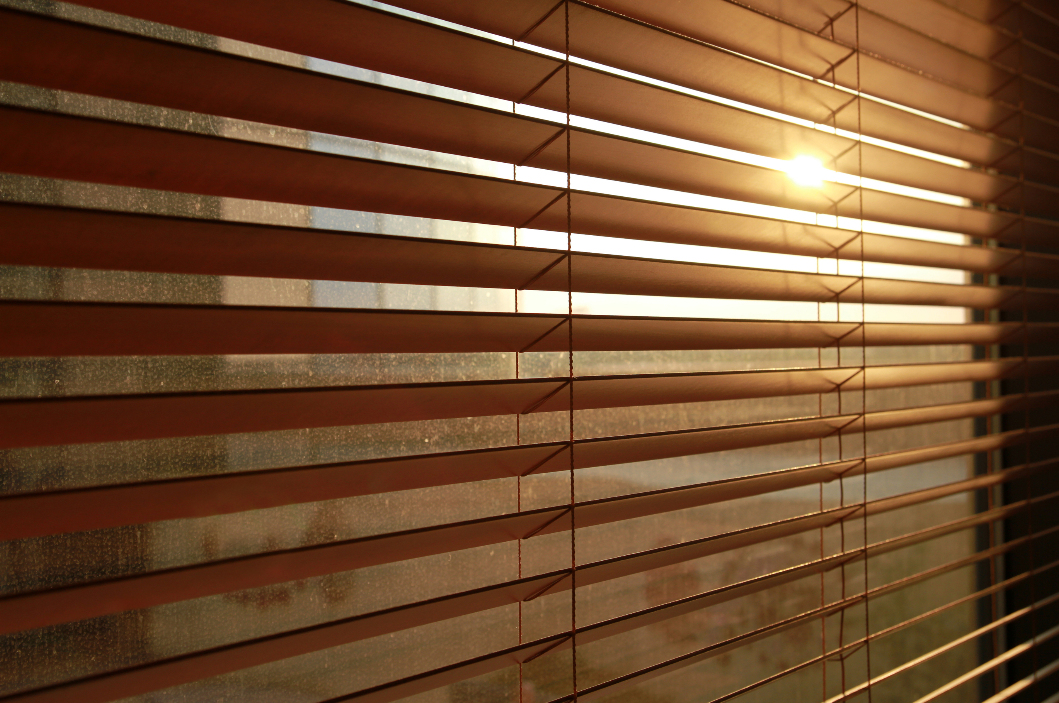 Window with Aluminium Venetian Blinds