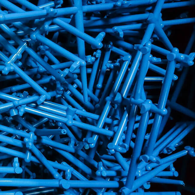 Blue Recyclable Polymers