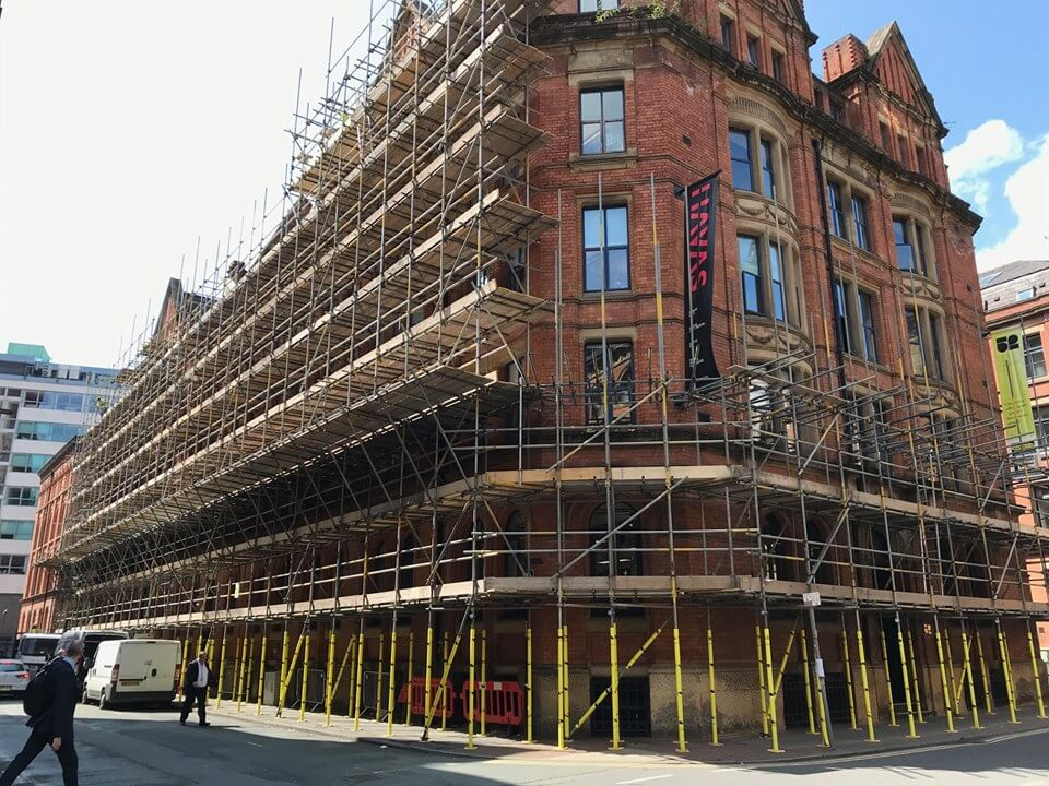 Large scale scaffolding