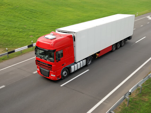 Heavy Goods Vehicle Transporting Goods