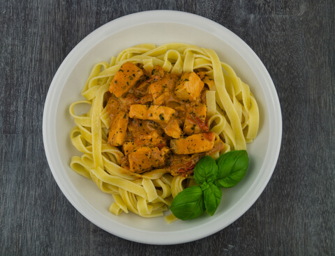 Italian pasta on a plate
