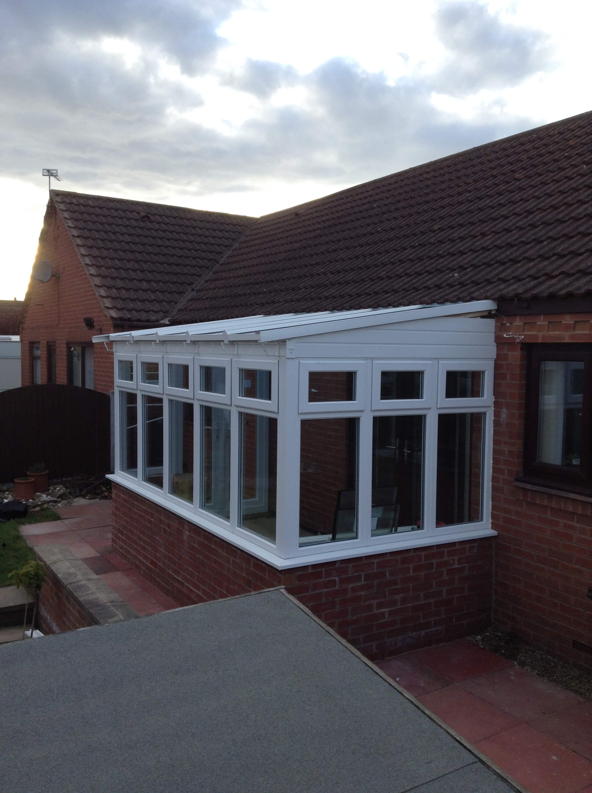 Newly built extension