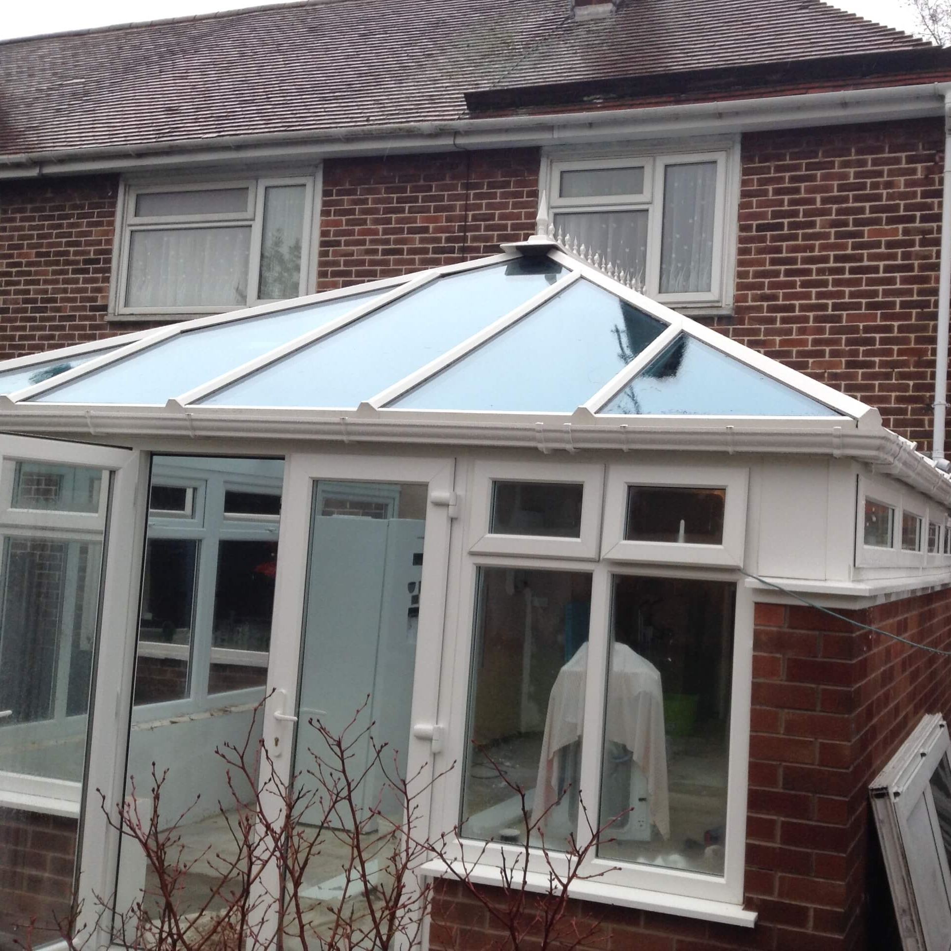 An extension with a Conservatory.