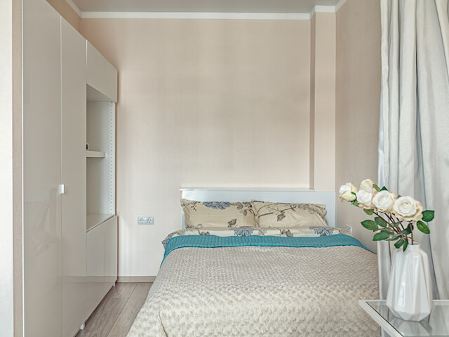 Small Beige Bedroom