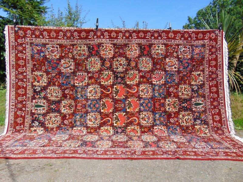 Zagros Mountains Persian Carpet. Bakhtiari tribe.