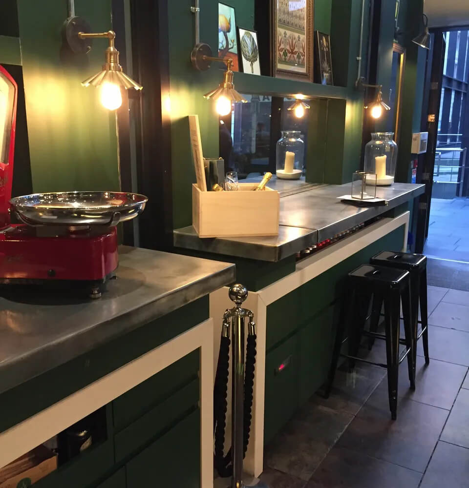 Zinc Kitchen Worktops
