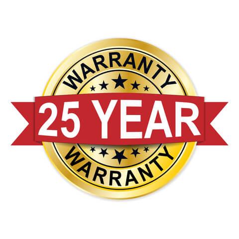 25 Year Warranty Badge