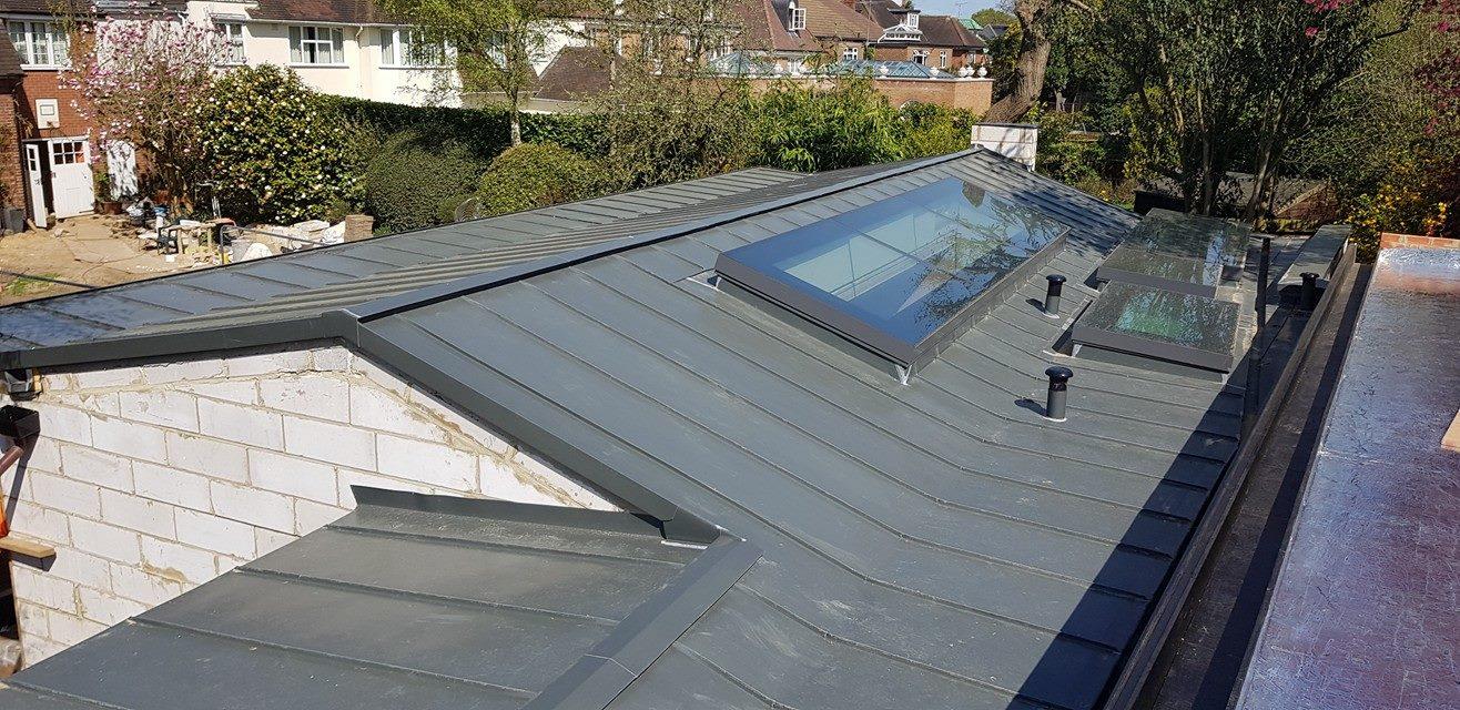 Zinc_roof_Roehampton_Gate_London