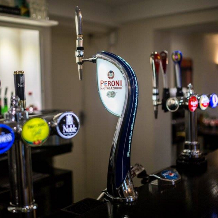 We serve a selection of great real ales and lagers, IPA being our local rebellion ale, alongside a good range of soft drinks and organic juices.