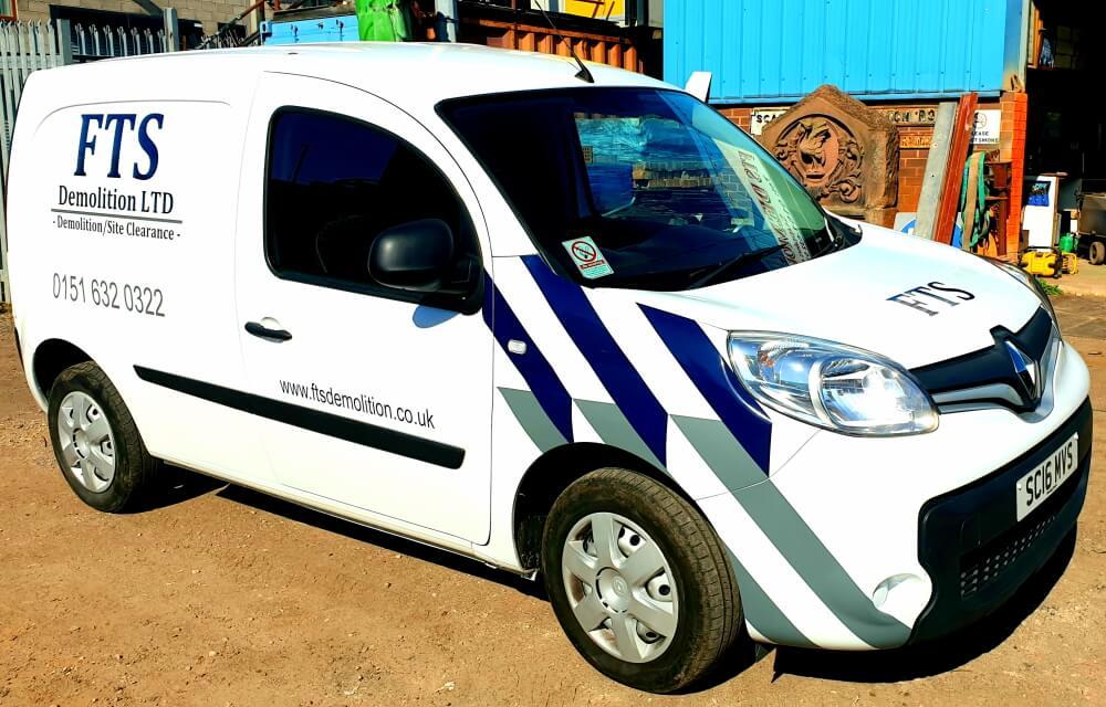 FTS Demolition LTD branded company van