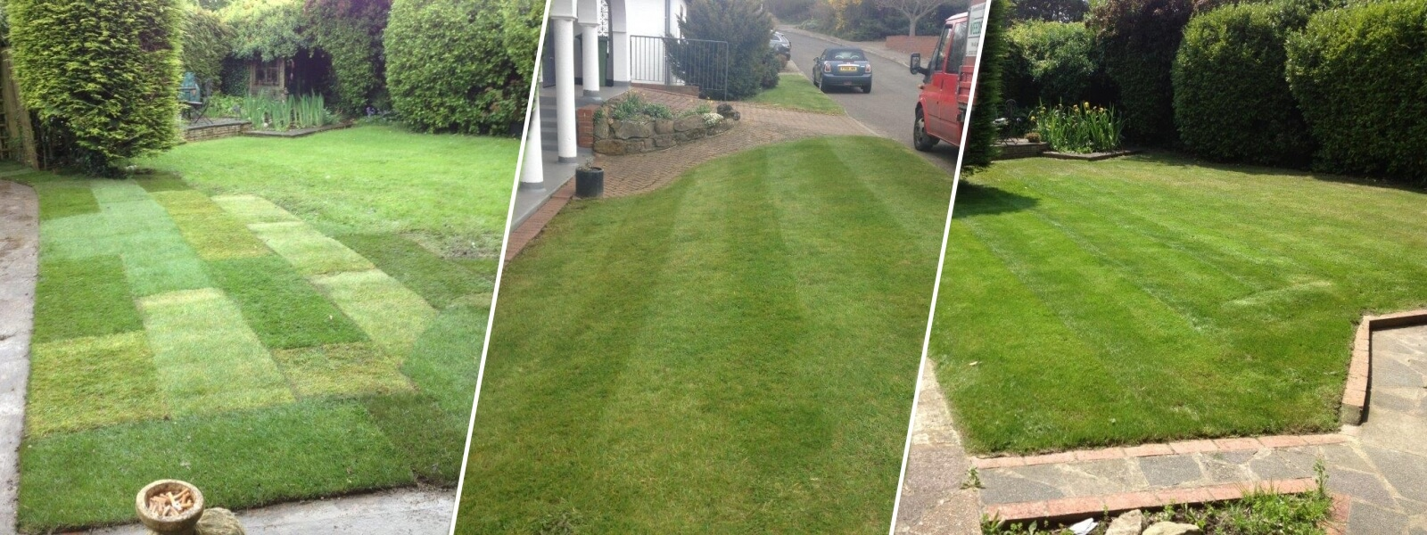 A Collage of our Grass Cutting Services