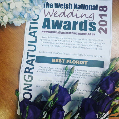 Best Florist - Welsh National Wedding Awards 2018