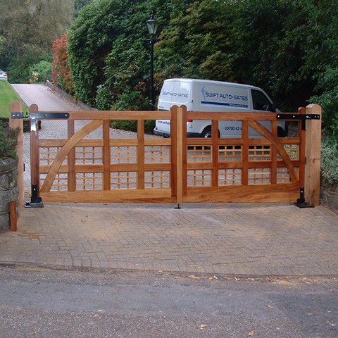 Wooden Gate on Drive Way