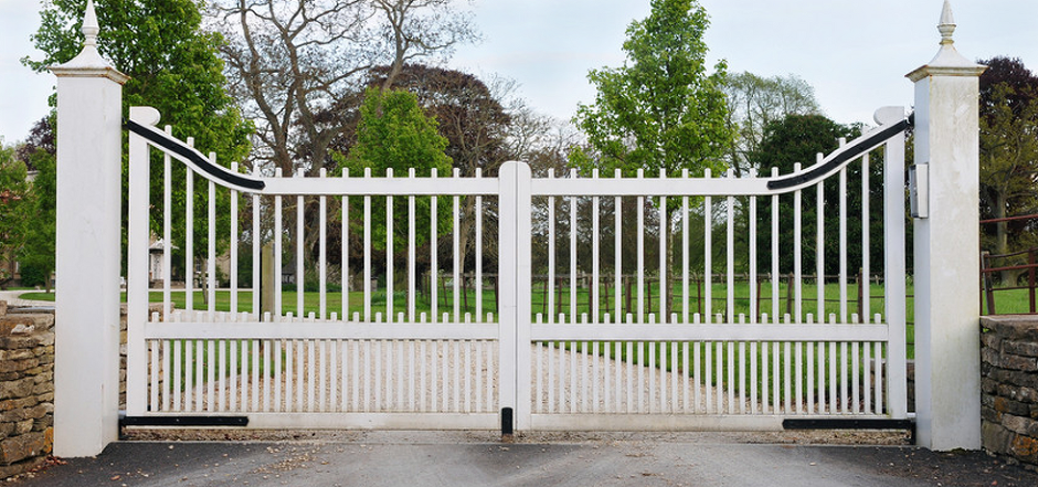 bespoke white wooden gate