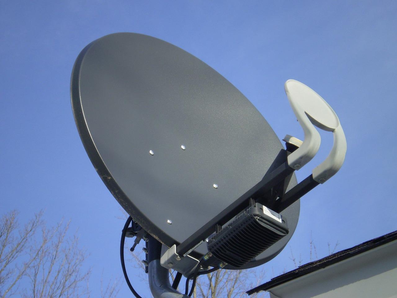 satellite mounted on roof