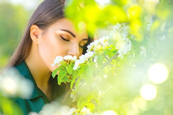 Young woman enjoying nature
