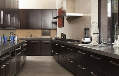 Contemporary dark kitchen