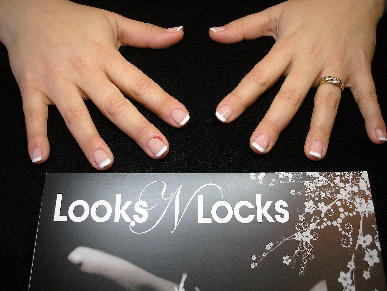 French Polish on Nails