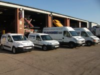 Fleet of Commercial Vehicles For Repairs