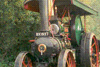 Traction engine driving