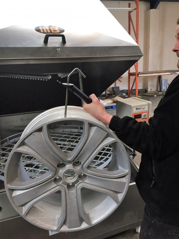 Powder Coating Wheel Hooks Blastwash Uk Ltd