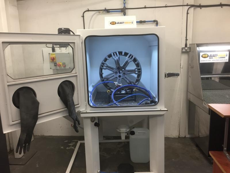 Item Alt Item Alt. Wheel sand blasting cabinet & Wheel Preparation Blasting Cabinet - Blastwash UK Ltd