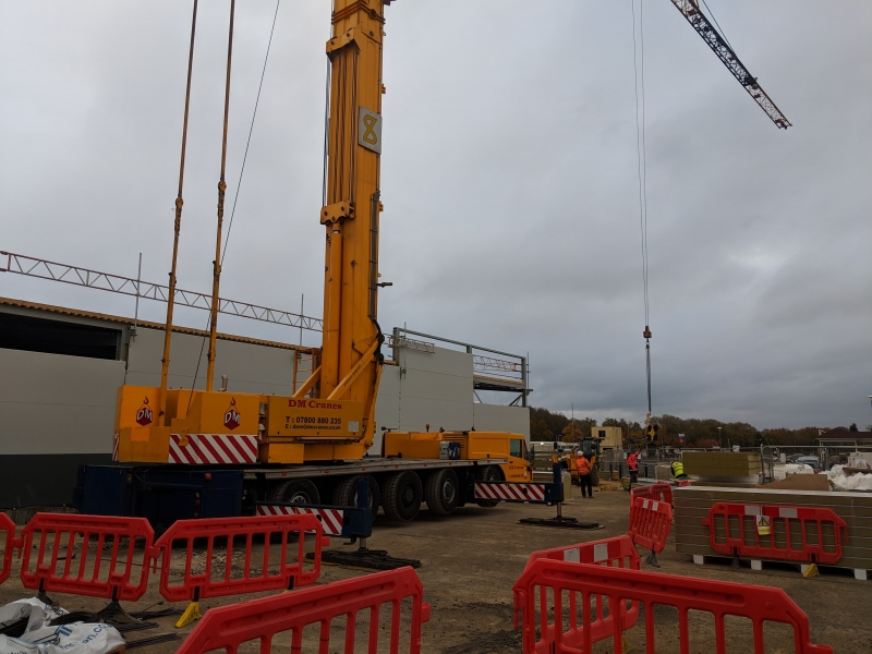 Mobile crane in Manchester