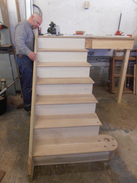 American White Oak Staircase Construction - Foxcote Joinery Limited
