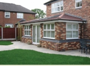 Building work done to side of house, extension