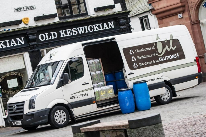 Used Oil being collected from pub