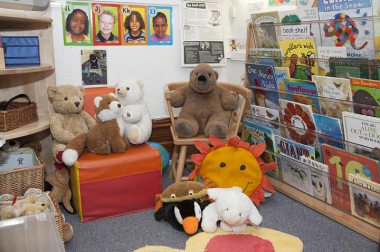 Reading area with teddies