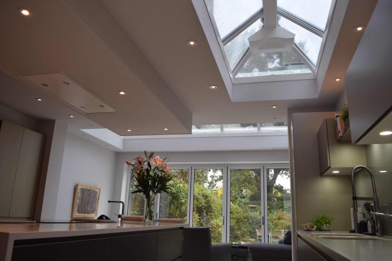 spacious modern orangery in Surrey
