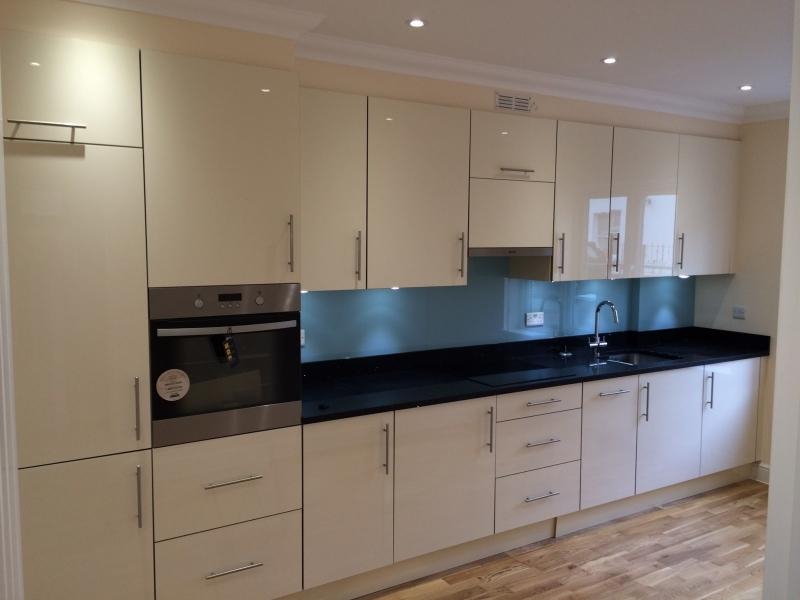 clean new looking kitchen installation