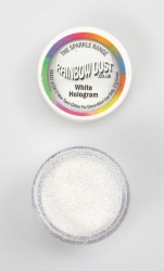 Rainbow Dust Sparkle White Hologram