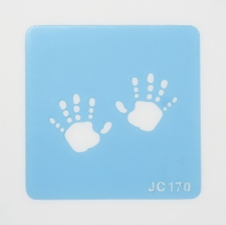 Bbay Handprints - stencil - 22mm