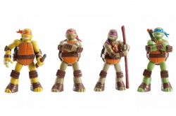 LICENSED FIGURES: TEENAGE MUTANT NINJA TURTLES, 4 CHARACTERS