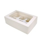White 6 Hold Cupcake Box