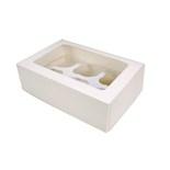 White 6 Hold Cupcake Box