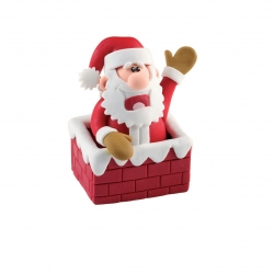 Claydough Santa in Chimney - 70mm