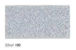 Silver 40mm lame sparkle ribbon - 20 meter reel