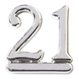Plastic silver 21 Number