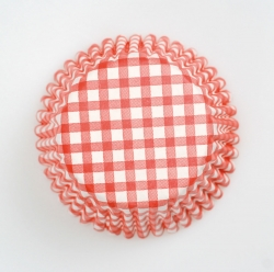 54 x Red Gingham Cases - 50mm