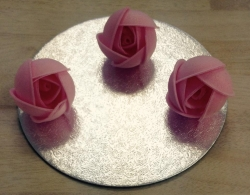 Pink Wafer Rose X3