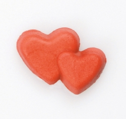 Red Sugar Double love heart - 18mm
